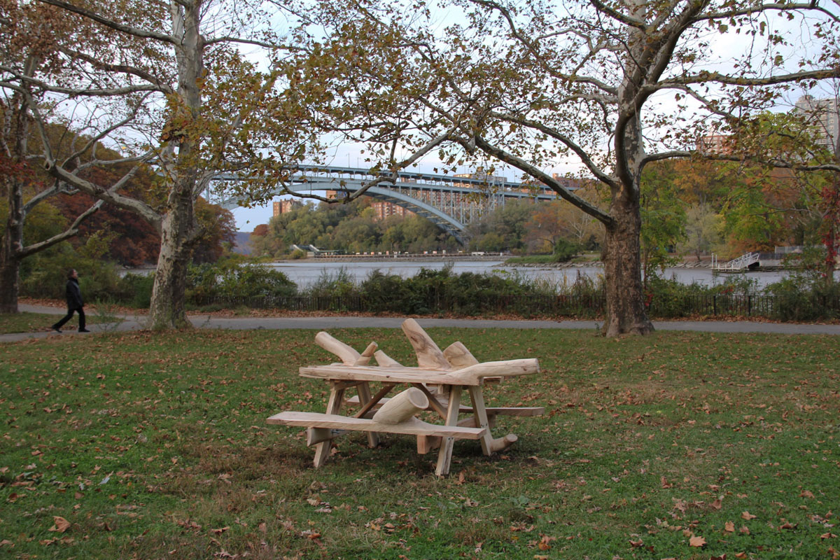 hugh hayden picnic table inwood hill park